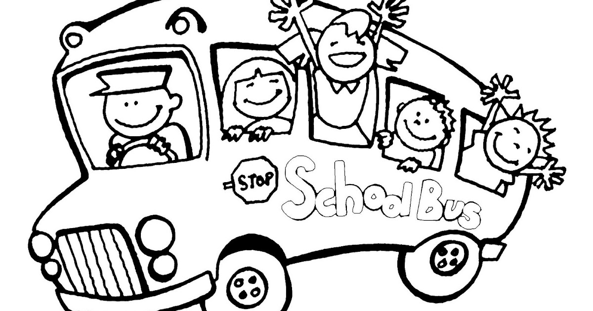 Printable Coloring Pages: Printable Coloring Pages School Bus