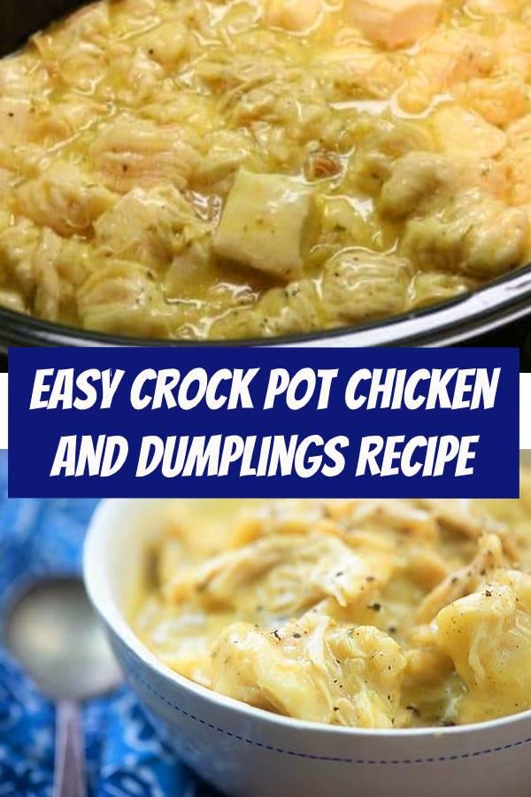 Easy Crock Pot Chicken and Dumplings Recipe | Easy Comfort Food to Make For Dinner #Chicken #Dumplings #ChickenDumplings #crockpot