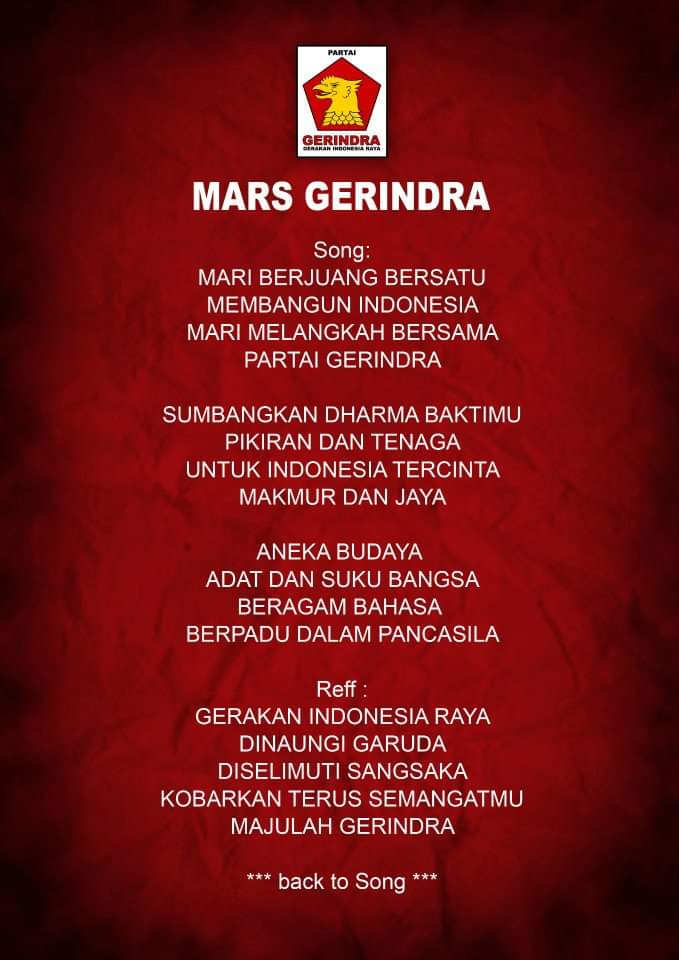 Mars Partai Gerindra