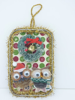 Mr. and Mrs. Owl Ornament by BayMoonDesign
