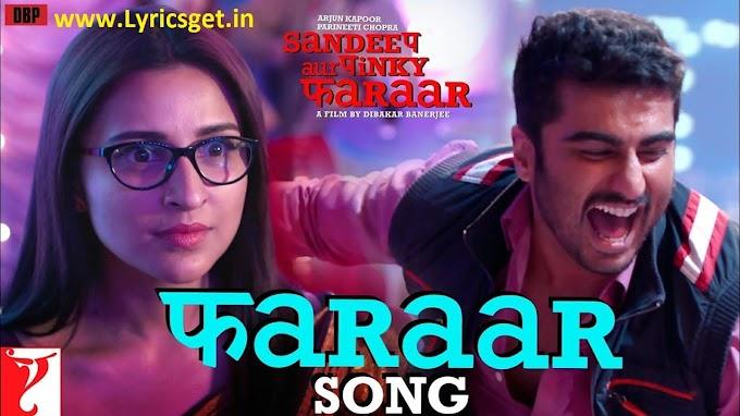 Faraar Song Lyrics in English - Anu Malik