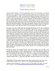 Energy Efficiency Fact Sheet Focus on TVA