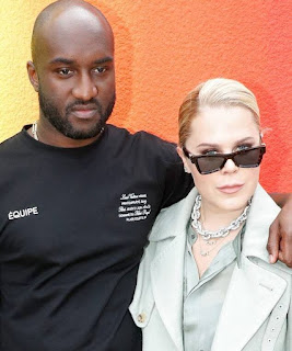 Picture of Shannon Abloh with her spouse Virgil Abloh