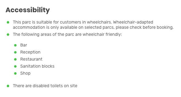 Duinrell Accessibilty