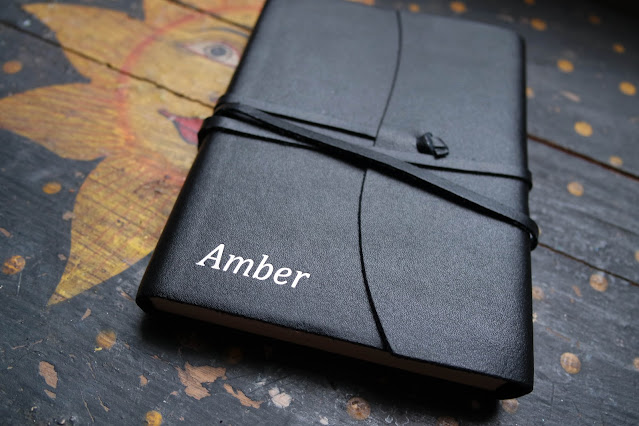personalised notebook in black