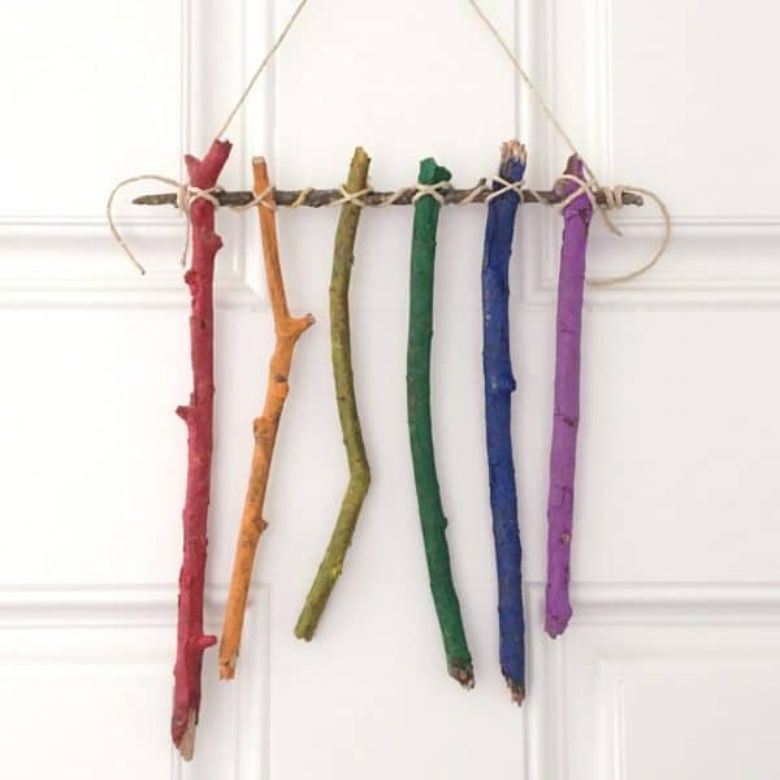 twig art nature craft for kids
