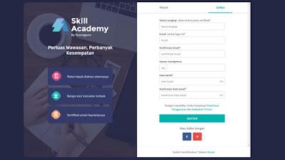 Form pendaftaran Kursus di skill academy