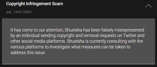 Aviso Shueisha