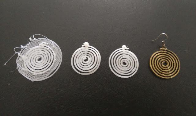 3D printed earring