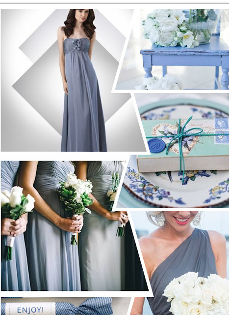 Winter Wedding Inspiration: Grey + Blue