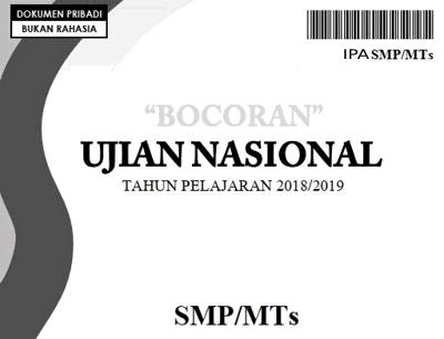 Download Prediksi Soal UNBK IPA SMP/MTs Tahun 2019