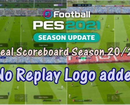 PES 2021 Real Scoreboard & Replay V2.0