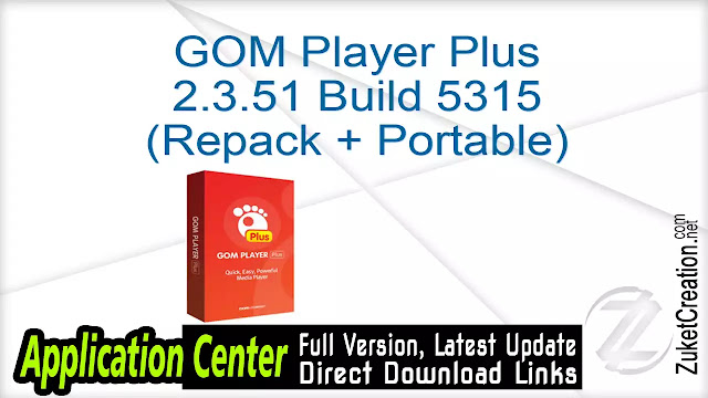 GOM Player Plus 2.3.51 Build 5315 (Repack + Portable)
