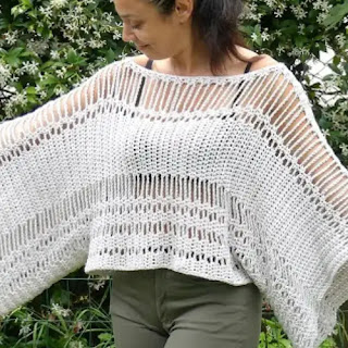 Blusa Murciélago a Crochet