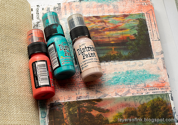 Layers of ink - Vellum Summer Art Journal Page Tutorial by Anna-Karin Evaldsson. Paint with acrylic paint.