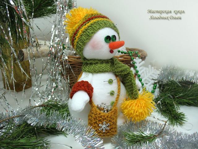Снеговик вид сбоку