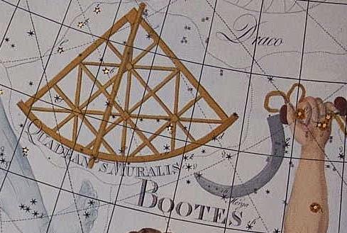 Antiga constelação de Quadrans Muralis - Atlas Coelestis