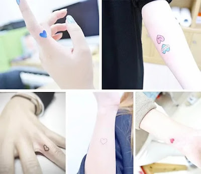 Meaningful and Tiny Heart Tattoo Designs for Girls
