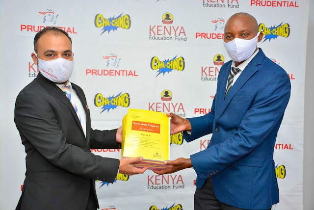 Prudential Kenya Chief Executive Officer Raxit Soni and Kenya Education Fund (KEF) Country Director Dominic Muasya