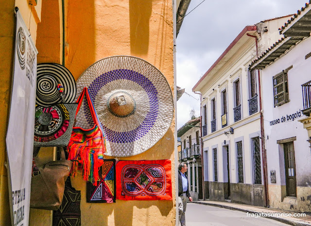 Artesanato no bairro de La Candelaria, Bogotá