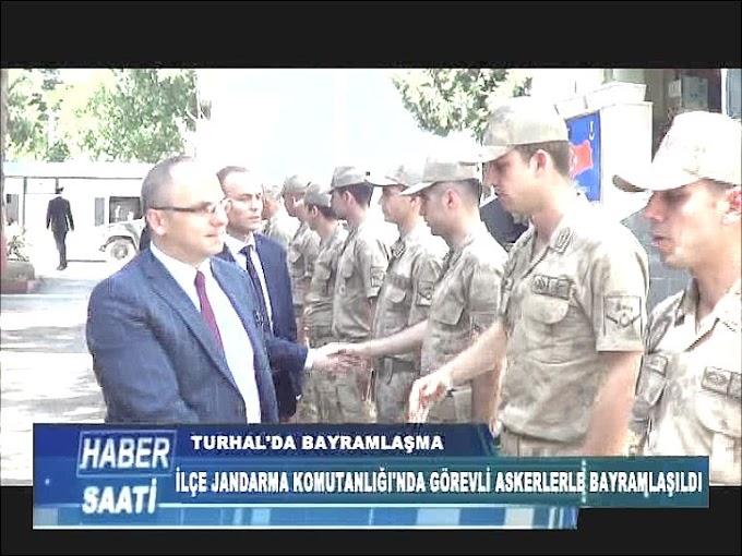 TURHAL'DA PROTOKOL BAYRAMLAŞMA YAPTI