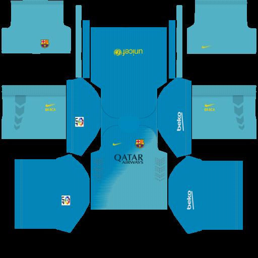 01ea089b5b851 Dream League Soccer Kits  Barcelona (GOLEIROS) 15 16 Kits - By ...