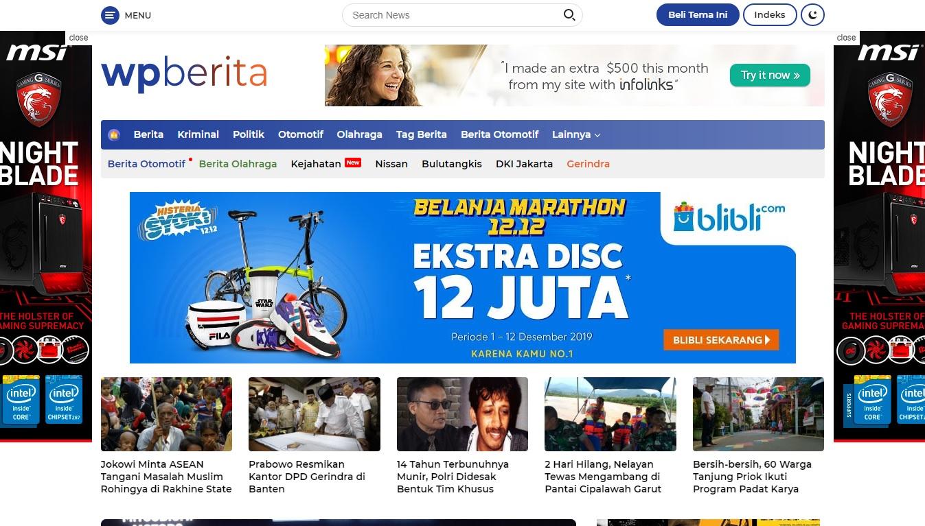Wpberita, Theme WordPress Detik 2021 Portal Berita dengan Desain yang Rapi dan Bersih