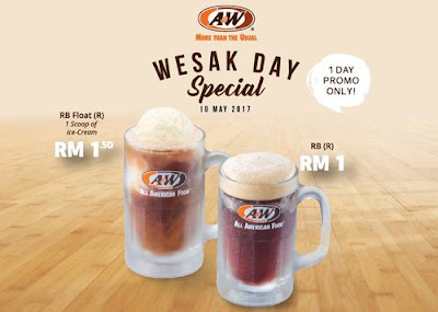 A&W Malaysia RB Float Ice Cream Regular Discount Promo