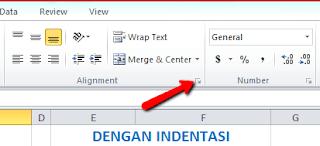 Cara Memberi Jarak Di Awal dan Akhir Teks pada Sel Excel