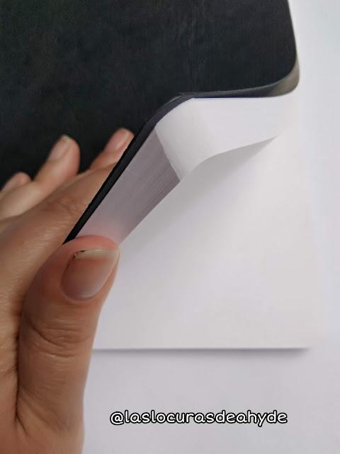 Muestra de las hojas de la libreta tamaño A5