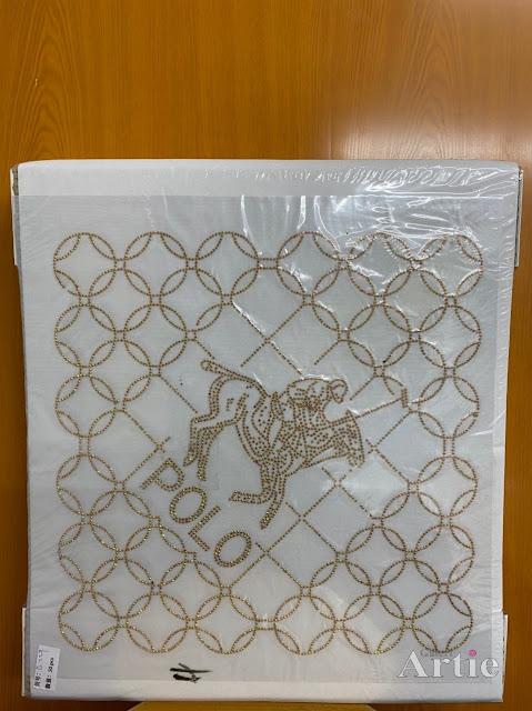 Hotfix stickers dmc rhinestone aplikasi tudung bawal fabrik pakaian pemain polo gold