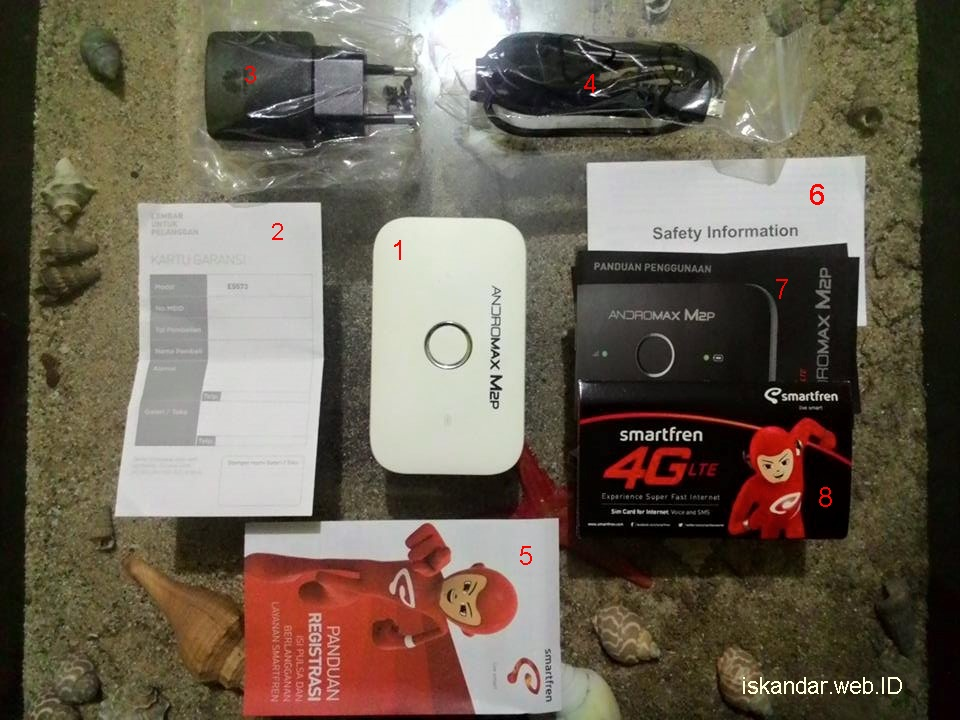 revie mifi smartfren M2P 4G Lte