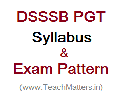 image : DSSSB Syllabus PGT Exam Pattern