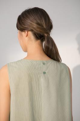 綠藤島嶼無袖上衣