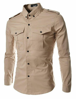Camisa Camel Slim Fit San Borja