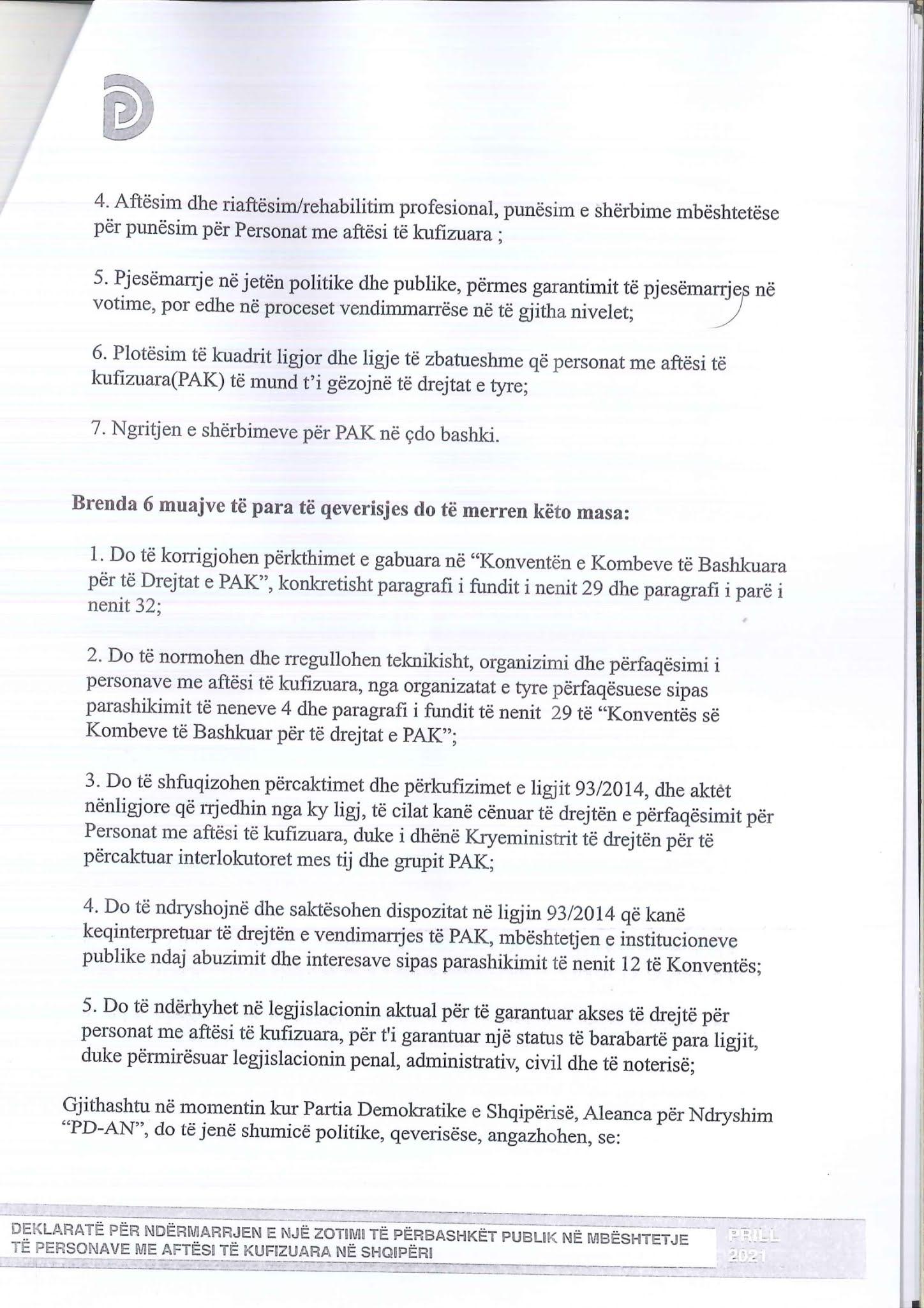 Kopje origjinale e marrëveshjes e skanuar faqja 4