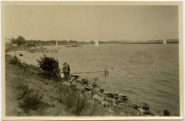 Река Аа у станции Майоренгоф старые фото