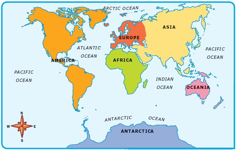 Year 3 world map oceans and continents game world map oceans and continents game gumiabroncs Choice Image