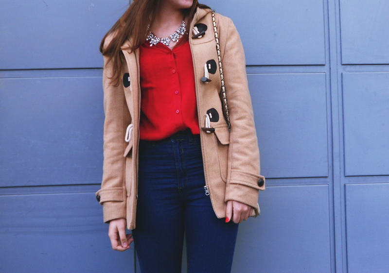 Outfit | Red and Camel