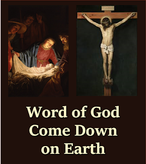 Word of God, come down on earth, living rain from heaven descending: touch our hearts and bring to birth faith and hope and love unending. Word almighty, we revere you; Word made flesh, we long to hear you. 2  Word eternal, throned on high, Word that brought to life creation, Word that came from heaven to die, crucified for our salvation; Saving Word, the world restoring, speak to us, your love outpouring.  3 Word that caused blind eyes to see, speak and heal our mortal blindness. Deaf we are: our healer be; loose our tongues to tell your kindness. Be our Word in pity spoken; heal the world by our sin broken. 4 Word that speaks God's tender love, one with God beyond all telling; Word that sends us from above God the Spirit, with us dwelling; Word of truth, to all truth lead us; Word of life, with one bread feed us.