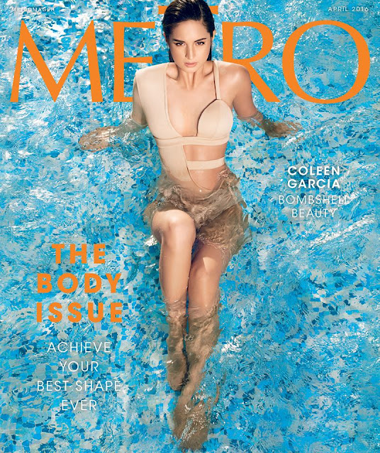 Coleen Garcia on the cover of Metro Magazine April 2016