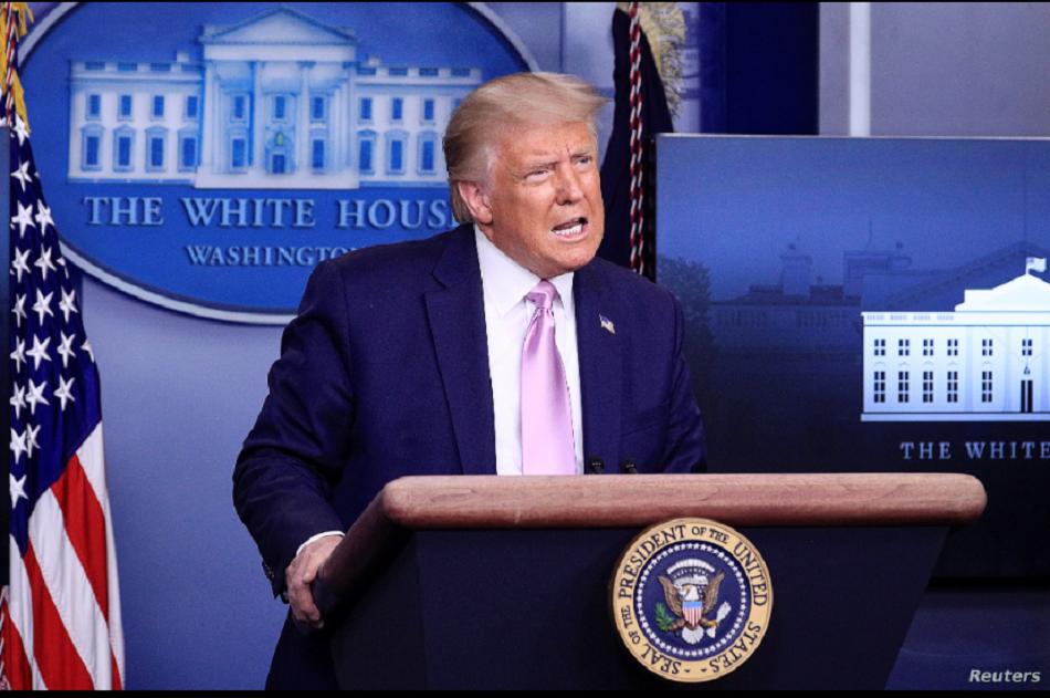 El presidente Donald Trump durante una rueda de prensa en la Casa Blanca, el pasado 23 de agosto / REUTERS