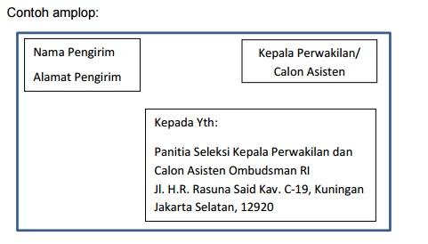 contoh amplop Lowongan Kerja Ombudsman RI Besar Besaran Seluruh Indonesia hingga 27 November 2016