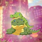 G4K Cute Crocodile Family Escape
