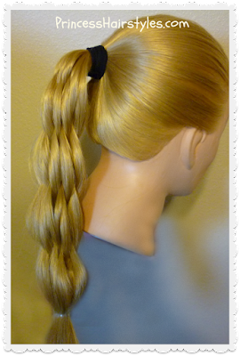 Multi strand pull through braid hairstyle, video instructions.