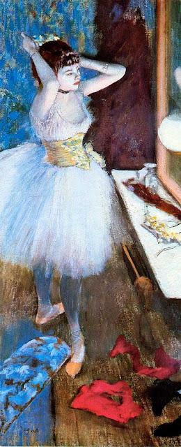 Эдгар Дега - Танцовщица в артистической уборной (1879)