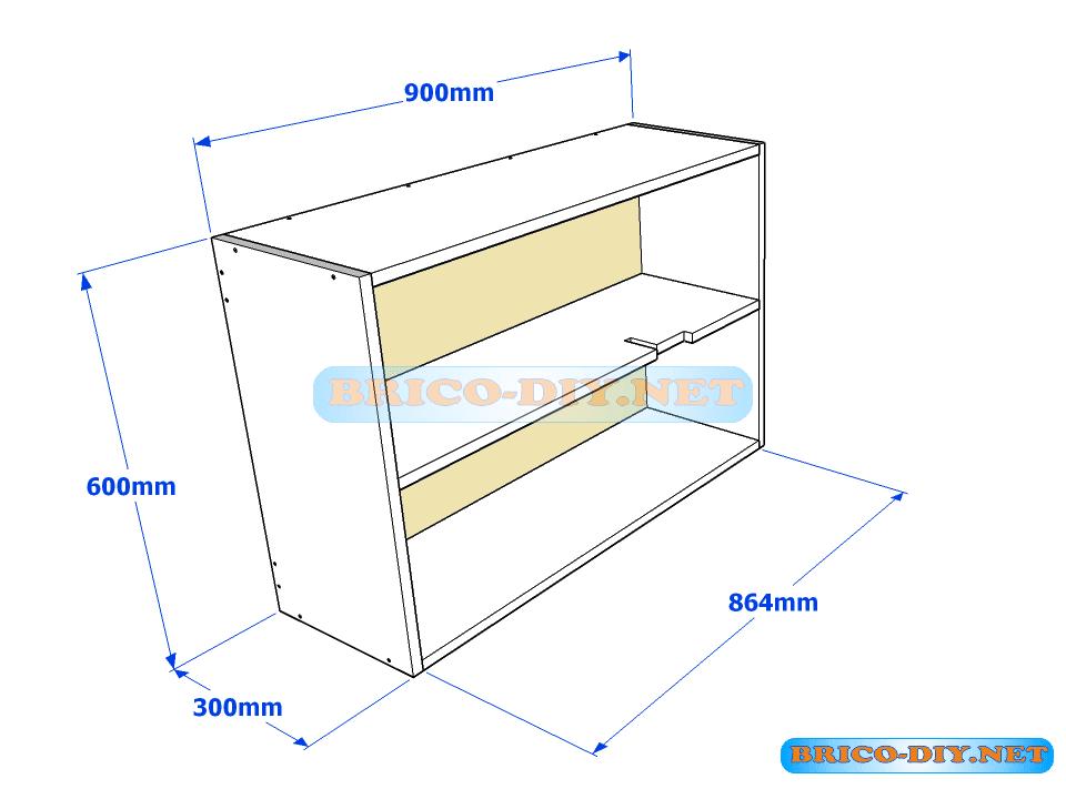 Muebles de cocina plano de alacena de melamina esquinera for Software para fabricar muebles de melamina