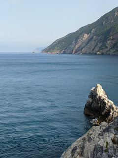 View from the Church of San Pietro (Porto Venere) northeast along the coast toward Cinque Terre