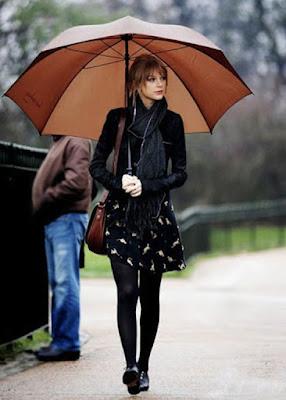 Como ficar estilosa nos dias de chuva.