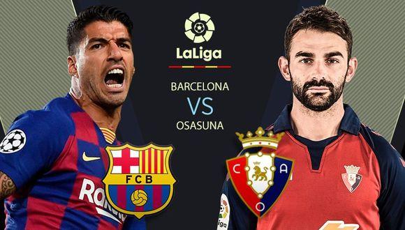 Barcelona vs. Osasuna EN VIVO a través de DIRECTV Sports: minuto a minuto e incidencias por LaLiga Santander